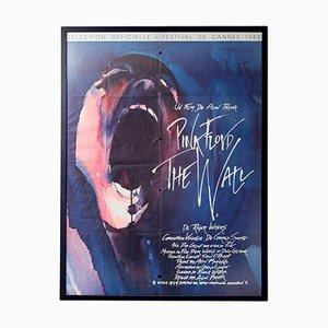 Póster de la película Pink Floyd The Wall vintage grande, años 80