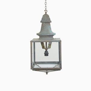 Lanterne en Cuivre Vert-de-Gris, Angleterre, 1920s