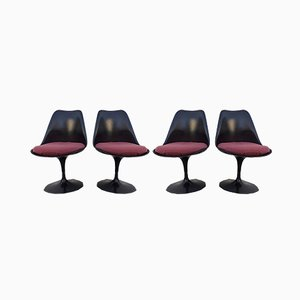 Chaises de Salle à Manger par Eero Saarinen pour Knoll Inc. / Knoll International, 1980s, Set de 4