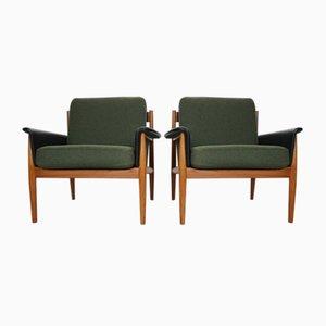 Dänische Sessel mit Gestell aus Teak von Grete Jalk für France & Søn / France & Daverkosen, 1960er, 2er Set