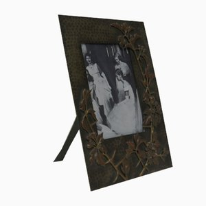 Antique Art Nouveau Brass and Copper Picture Frame