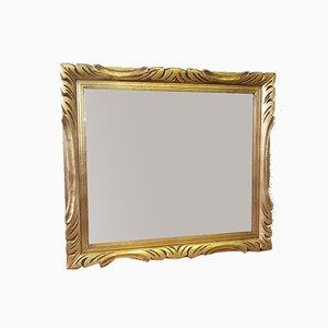 Specchio in legno intagliato, anni '50