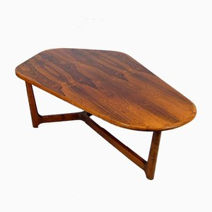 Scandinavian Modern Rosewood Coffee Table, 1950s