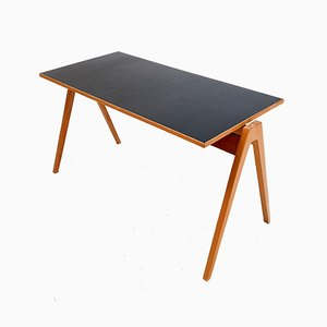 Black Warerite Laminate Desk by Robin & Lucienne Day for Hille, 1950s