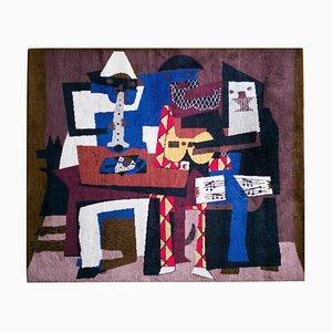 Vintage Musicus con Mascaras Wandteppich aus Wolle von Pablo Picasso