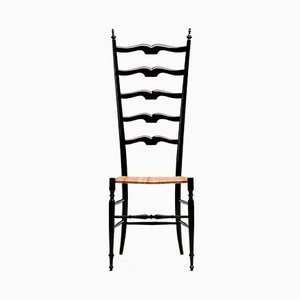 Italian Lacquered Side Chair by Chiavari, 1950s