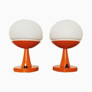 Lámparas de mesa era espacial, años 70. Juego de 2