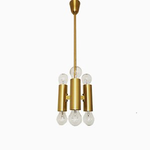 Space Age Brass Chandelier, 1970s
