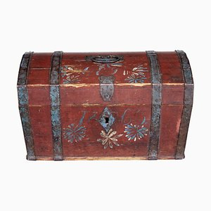 19th Century Swedish Pinewood Box, 1860s