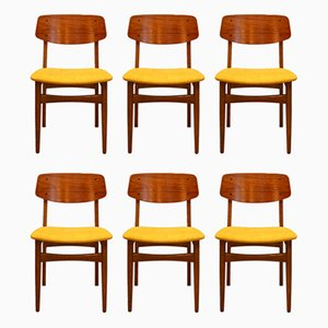 Danish Teak and Oak Dining Chairs, 1960s, Set of 6