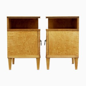 Mid-Century Birch Nightstands, 1940s, Set of 2