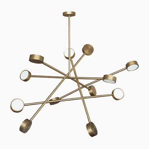 Brass Line Chaos Chandelier by Square In Circle