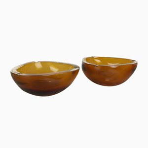 Mid-Century Elements Ashtray by Antonio da Ros for Cenedese Vetri, Set of 2