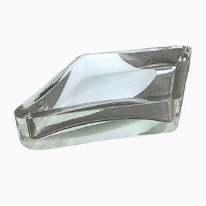 Cuenco Mid-Century de cristal de Murano transparente de Antonio da Ros para Cenedese Vetri