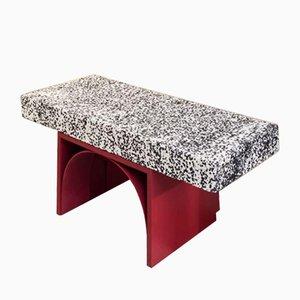 Sgabello Dalmata I Can't Believe It's Not Stone in marmo di Ilaria Bianchi
