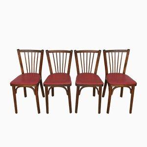 Chaises de Salle à Manger en Simili Cuir de Baumann, 1950s, Set de 4