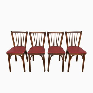 Leatherette Dining Chairs from Baumann, 1950s, Set of 4