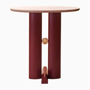 Bronze and Quartzite Alcova Side Table by Ilaria Bianchi