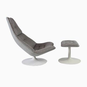 Mid-Century Model F510 Swivel Chair and Ottoman by Geoffrey Harcourt for Artifort