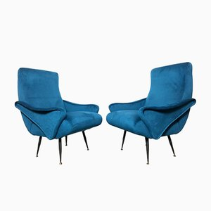 Lounge Chairs by Nino Zoncada, 1950s, Set of 2