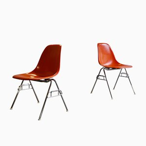 Fibreglass Dining Chairs by Charles & Ray Eames for Herman Miller, 1970s, Set of 2