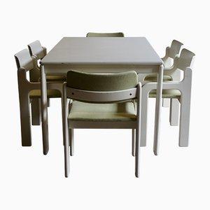 Table et Chaises Flamingo par Eero Aarnio pour Asko, 1970s, Set de 7