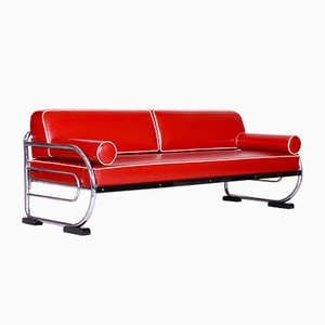 Chromed Steel Sofa from SLEZAK Factories, 1930s