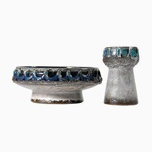 Bols en Céramique de Strehla Keramik, 1960s, Set de 2