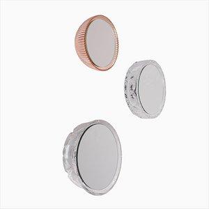Miroirs Muraux 137a, 177c et 177d par Andreas Berlin, Set de 3