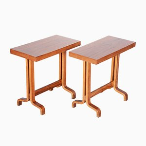 Mahogany Side Tables, 1960s, Set of 2