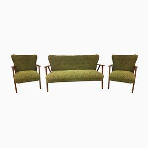Dänisches Mid-Century Sofa & Sessel Set von Fritz Hansen