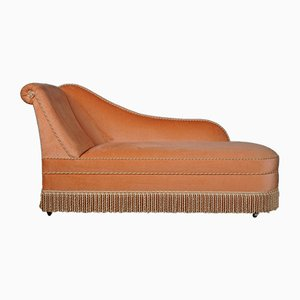Hollywood Regency Style Peach Chaise Lounge, 1960s