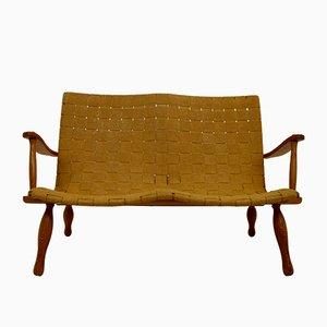 Vintage Sofa mit Gestell aus Kiefernholz, 1970er