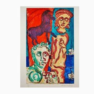 Póster Aegean Fantasies de Malcolm Morley, años 80