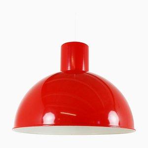 Lampe à Suspension Rouge par Jo Hammerborg pour Fog & Mørup, années 70