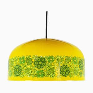 Lampe à Suspension Modèle Maaret Jaune Émaillée par Kaj Franck pour Fog & Mørup, années 70
