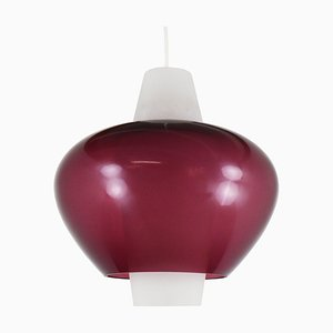 Violet and White Glass Model NG68 E/01 Pendant Lamp from Philips, 1960s