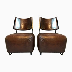 Lounge Chairs by Harri Korhonen for Inno, 1980s, Set of 2