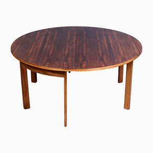 Swedish Rosewood Folding Coffee Table by Sven Staaf for Tingströms, 1950s