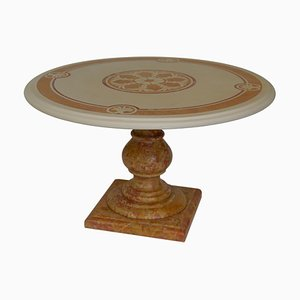 Italian Marble Scagliola Art Coffee Table by Cupioli
