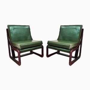 Spanische Sessel & Couchtisch Set von Guilleumas, 1960er, 7er Set