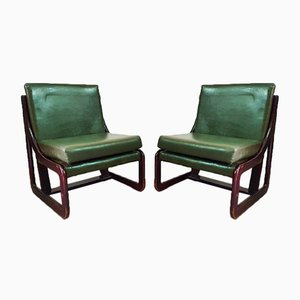 Spanish Lounge Chairs and Coffee Table Set from Guilleumas, 1960s, Set of 7