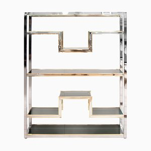 Brass and Chrome Shelf, 1970s