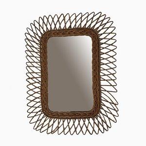 Miroir en Rotin, années 60