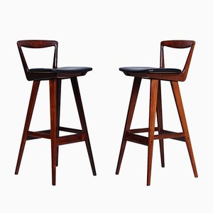 Rosewood Stools by Henry Rosengren Hansen for Brande Møbelindustri, 1950s, Set of 2