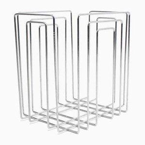 Vintage Chrome-Plated Magazine Rack by Willi Glaeser for TMP Originals