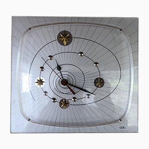 Horloge Murale Mid-Century en Formica par Hourriez pour Odo