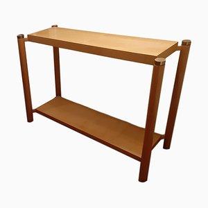 Consola vintage de madera, años 70