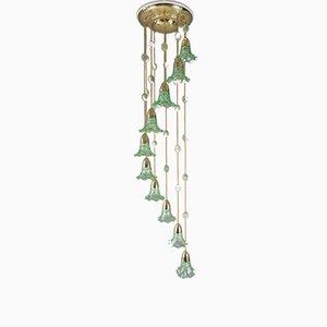 Lámpara de araña modernista antigua, años 10