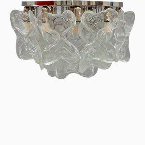 Lámpara de techo vintage grande de cristal de Murano de J. T. Kalmar para Kalmar